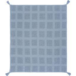 Woven Paths Charming Checks Throw Blanket with Tassels, Blue | Walmart (US)