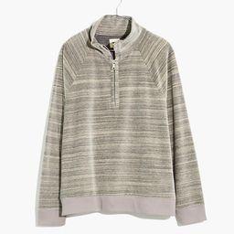 MWL Velour Space-Dyed Half-Zip Sweatshirt   Madewell