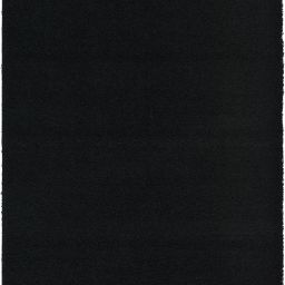 Unique Loom Solid Print Modern Area Rugs, Black - Walmart.com | Walmart (US)