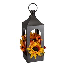 "Way to Celebrate Lantern Floral Arrangement Table Top Decoration, 17.75"" - Walmart.com | Walmart (US)"