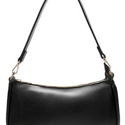 NIUEIMEE ZHOU Shoulder Bag for Women Retro Vegan Leather Classic Clutch Tote HandBag with Zipper ... | Amazon (US)