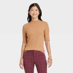 Women's Elbow Sleeve Mock Turtleneck T- Shirt - A New Day™ | Target