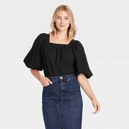 Women's Puff Short Sleeve Blouse - A New day™   Target