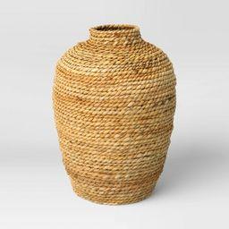 "13.5"" x 10"" Abaca Woven Harvest Vase Brown - Threshold™   Target"