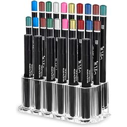 MOOCHI Makeup Eyeliner Makeup Pen Lip Liner Holder Clear Acrylic Cosmetic Brush Organizer Drawing Pe | Amazon (US)