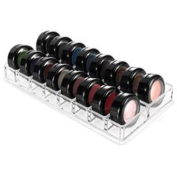 MOSIKER Compact Eyeshadow Palette Organizer with 16 Slots,Acrylic Clear Cosmetic Storage for Small H | Amazon (US)