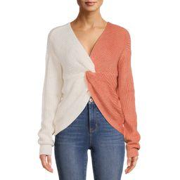 No Boundaries Juniors' Twist Front Sweater | Walmart (US)