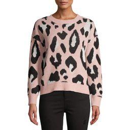 Dreamers by Debut Women's Leopard Print Sweater | Walmart (US)