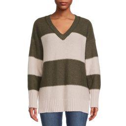 Bohemian Rose Women's V-Neck Tunic Sweater | Walmart (US)