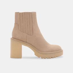 CASTER H2O BOOTIES IN DUNE SUEDE | DolceVita.com