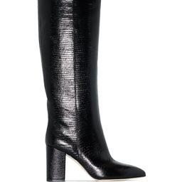 80mm block heel boots   Farfetch (US)
