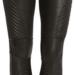SPANX Women's Faux Leather Moto Leggings   Amazon (US)