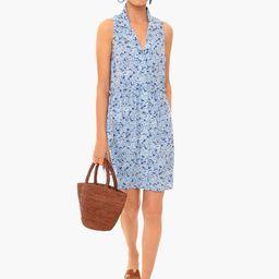 Hydrangea Sleeveless Royal Shirt Dress   Tuckernuck (US)