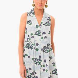 Provence Breeze Sleeveless Royal Shirt Dress   Tuckernuck (US)