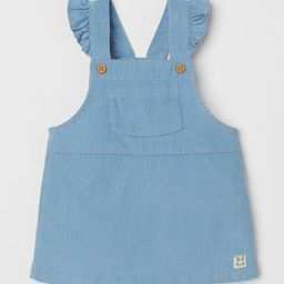 Ruffle-trimmed Overall Dress | H&M (US)