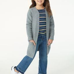 Free Assembly Girls Long Open Cardigan Sweater, Sizes 4-18 - Walmart.com | Walmart (US)