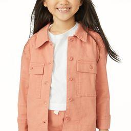 Free Assembly Girls Surplus Shirt Jacket, Sizes 4-18 - Walmart.com | Walmart (US)