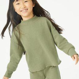Free Assembly Girls Mock Neck Fleece Sweatshirt, Sizes 4-18 - Walmart.com | Walmart (US)