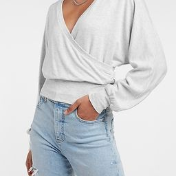 Solid Wrap Front Sweatshirt | Express
