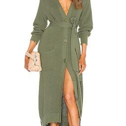 Amanda Sweater Dress in Olive | Revolve Clothing (Global)