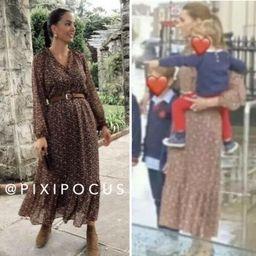 ZARA NWT ASO Kate Middleton PRINTED MIDI DRESS BELTED   SIZE XL 3666/156     eBay   eBay US