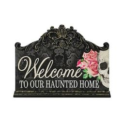 """14.6"""" Welcome to Our Haunted Home Wall Sign by Ashland® 