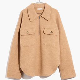 Boiled Wool Half-Zip Popover Sweater   Madewell