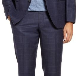 Esprit Contemporary Fit Navy Windowpane Check Wool Suit | Nordstrom
