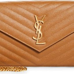 Large Monogram Quilted Leather Wallet on a Chain | Nordstrom
