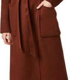 Belted Double Face Wool Blend Wrap Coat | Nordstrom