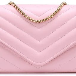 Dasein Women Small Quilted Crossbody Bags Stylish Designer Evening Bag Clutch Purses and Handbags wi | Amazon (US)