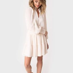 Blouson Sleeve Smocked Detail Lurex Chiffon Dress   Gibson