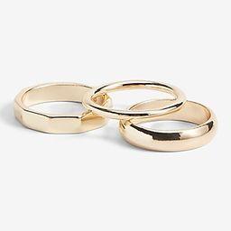 3 Piece Gold Ring Set   Express