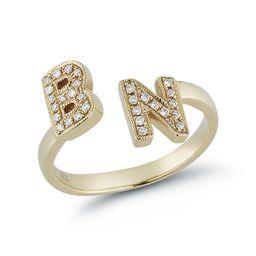 DRD Double Initial Ring | Dana Rebecca Designs