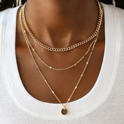 Three-Way Tie Gold Necklace Set | Lulus (US)
