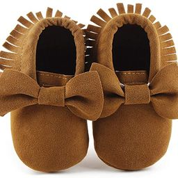 CENCIRILY Infant Baby Fringe Moccasin Slipper Boys Girls Tassel Suede Leather Toddler Sneakers So...   Amazon (US)