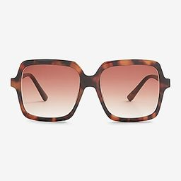 Oversized Square Frame Sunglasses | Express