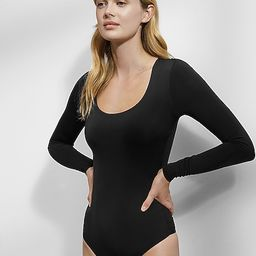 Body Contour Scoop Neck Double Layer Thong Bodysuit | Express