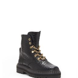 Popinta Chain-Detail Combat Boot | Vince Camuto