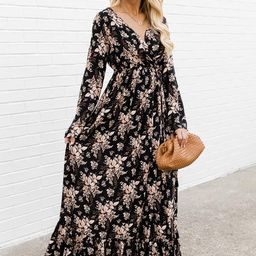 Soundtrack Of Us Black Floral Maxi Dress | The Pink Lily Boutique