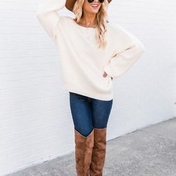 Our Best Years Ivory Sweater | The Pink Lily Boutique