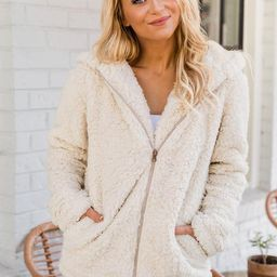 Forest Of Dreams Beige Sherpa Jacket | The Pink Lily Boutique