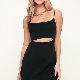 Cutout On The Town Black Cutout Bodycon Dress | Lulus (US)