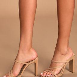 Ferrara Natural High Heel Sandals | Lulus (US)