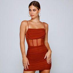 Sheer And Stunning Corset Mini Dress | Windsor Stores