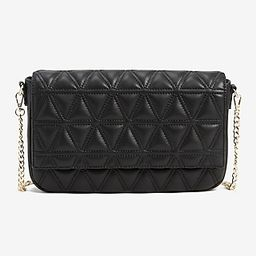 Triangle Quilted Crossbody Bag   Express