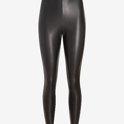 Super High Waisted Faux Leather Leggings   Express