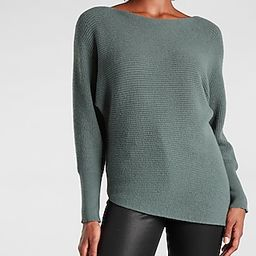 Ribbed Asymmetrical Tunic Sweater | Express