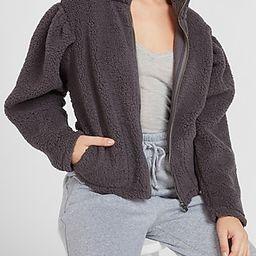 Cozy Full Zip Sherpa Sweatshirt | Express