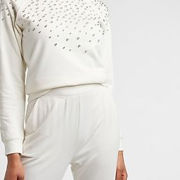 Embellished Crew Neck Sweatshirt | Express